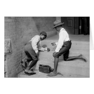 Black Boys Shooting Craps 1901 Card