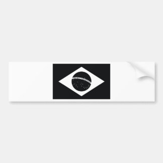 Black Brazil Country Flag Bumper Stickers
