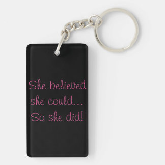 Black Breast Cancer Awareness key chain