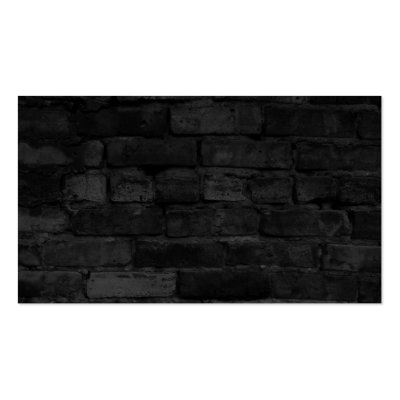 Black Brick Wall Business Cards