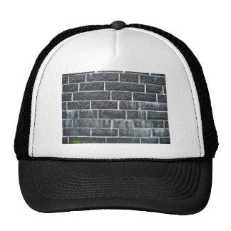 Black Brick Wall Texture Trucker Hats
