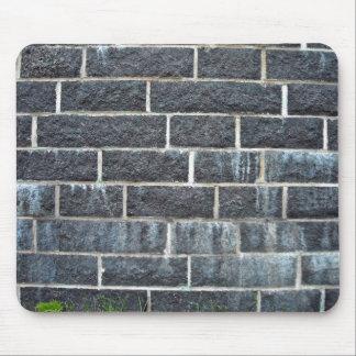 Black Brick Wall Texture Mousepads