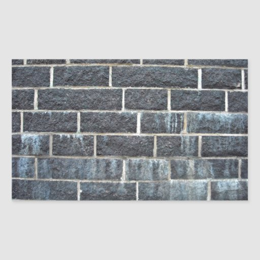 Black Brick Wall Texture Rectangle Stickers