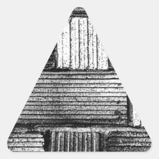 Black Bricks Triangle Sticker