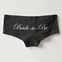 Black Bride-to-Be Boyshorts