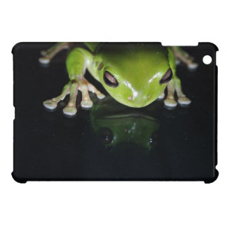 Black Bright Green Frog iPad Mini Case