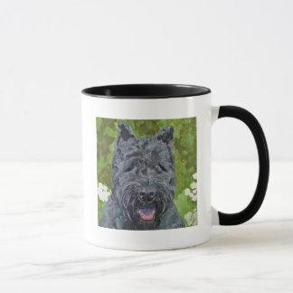 Black Brindle Bouvier Des Flanders Dog Art Mug