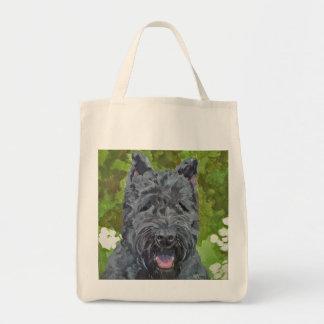 Black Brindle Bouvier Des Flanders Dog Art Tote