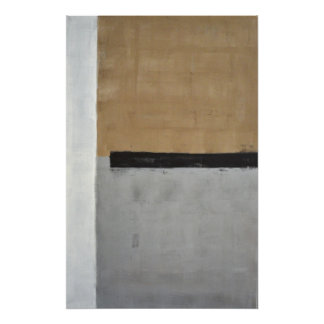 Black, Brown and Grey Abstract Art Poster