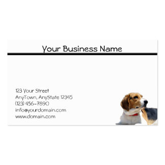 Black Brown and White Beagle Dog Business Card
