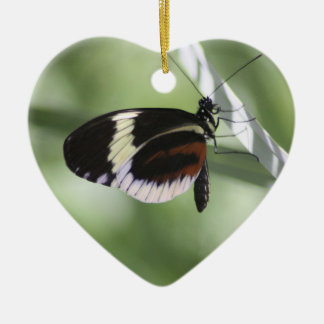 Black Brown and White Butterfly Ornament