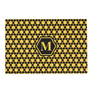 Black Brown and Yellow STH Placemat