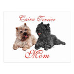 Black & Brown Cairn Terriers Mothers Day Post Card