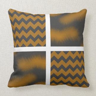 Black/Brown Chevron/Tortoiseshell Print Pillow