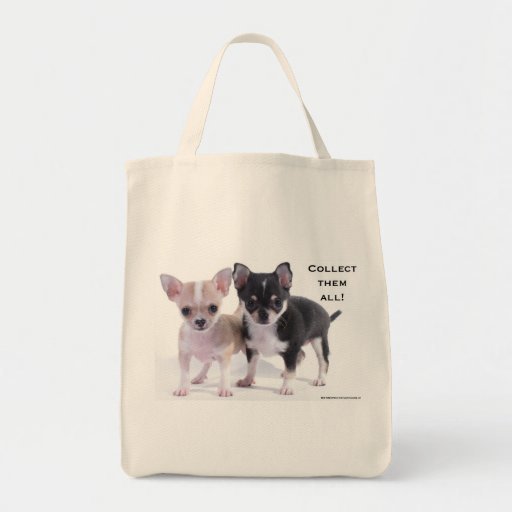 Black & Brown Chihuahua Grocery Tote Bag
