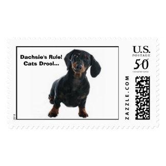Black & Brown Dachshund Stamps