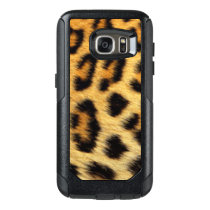 Black Brown Gold Leopard Animal Pattern Print OtterBox Samsung Galaxy S7 Case