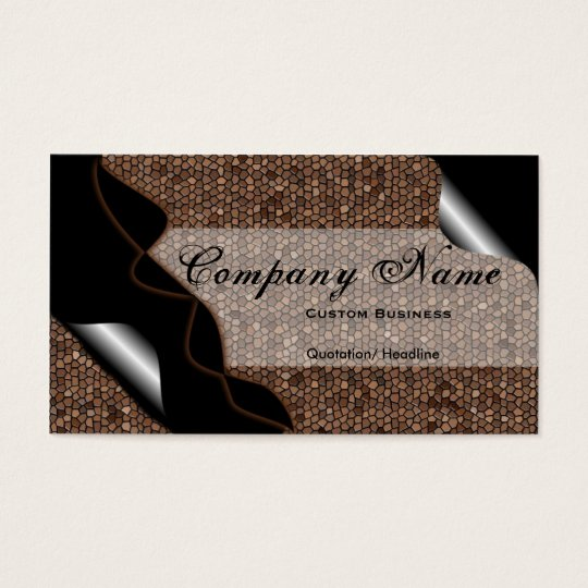 Black & Brown Stained Glass Tile Business Cards 2