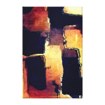 Black Brown Tan Abstract Painting Canvas Print