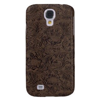 Black/Brown Tool Leather Look 3G/3GS Galaxy S4 Case