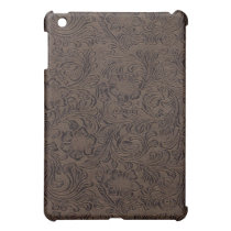 Black/Brown Tool Leather Look Pern C Case For The iPad Mini