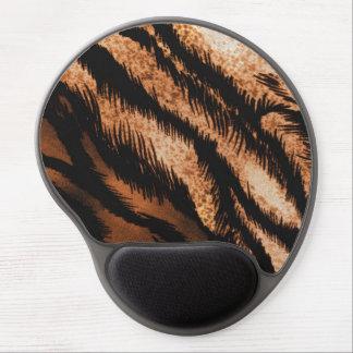 Black Brown Zebra Pattern Photo Print Gel Mouse Pad