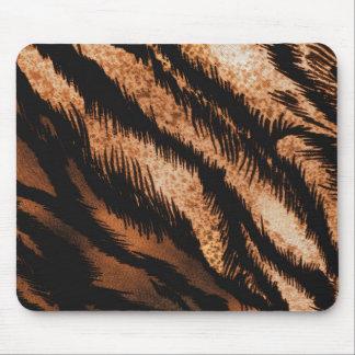 Black Brown Zebra Pattern Photo Print Mouse Pad