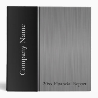 Black Brush Steel Company Style 3 Ring Binder