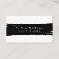 Black brush stroke business card
