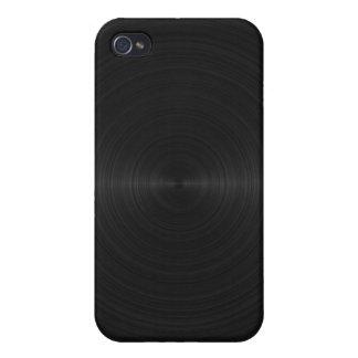 Black Brushed Metal iPhone 4 Case