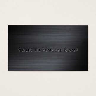 Black Brushed Metallic  Corporate Business Card