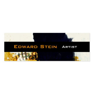 Black Brushstroke Painterly Abstract Expressionism Mini Business Card