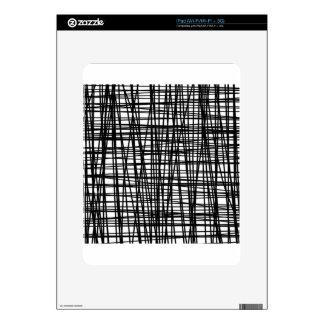 Black Brushstroke Watercolor Stripes Skins For The iPad
