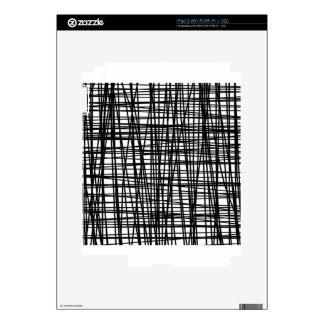 Black Brushstroke Watercolor Stripes Skins For The iPad 2