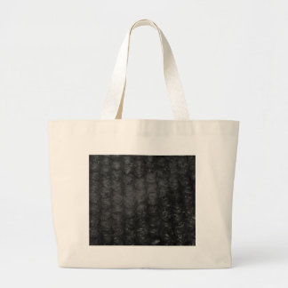 Black Bubble Wrap Effect Large Tote Bag