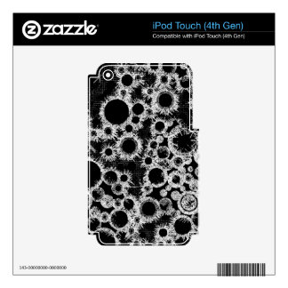 Black bubbles skin for iPod touch 4G
