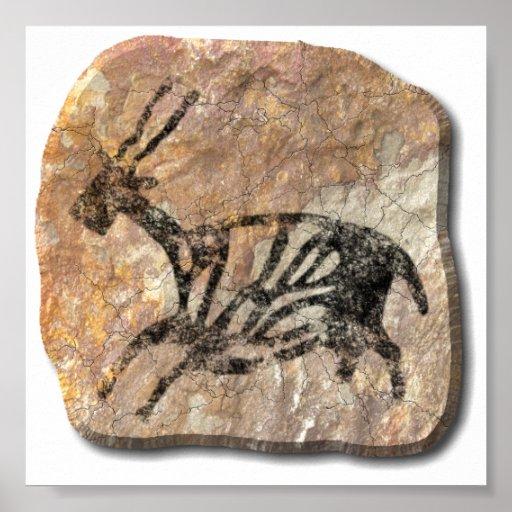 Black Buck - stone Print