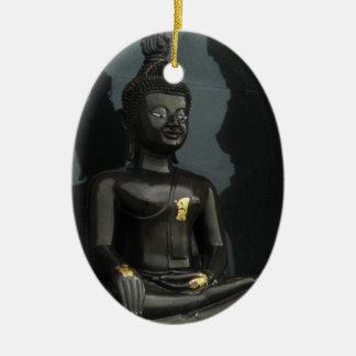 Black Buddha ... Nong Khai, Isaan, Thailand Ceramic Ornament