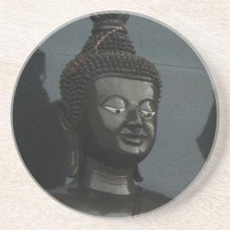 Black Buddha ... Nong Khai, Isaan, Thailand Sandstone Coaster
