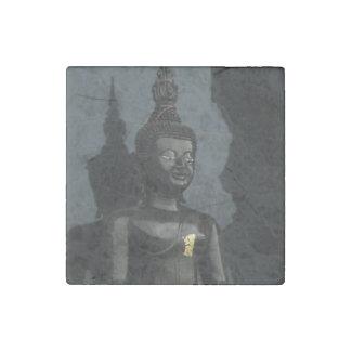 Black Buddha ... Nong Khai, Isaan, Thailand Stone Magnet