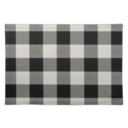 Black Buffalo Check | Modern Farmhouse Cloth Placemat