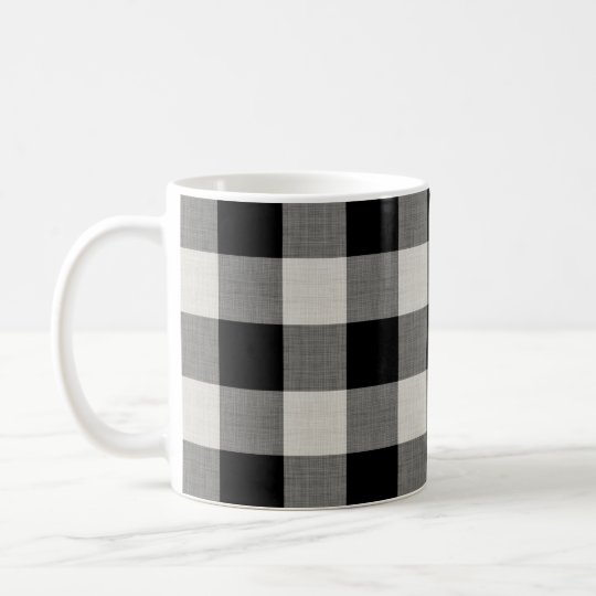 Black Buffalo Check Modern Farmhouse Coffee Mug Zazzlecom