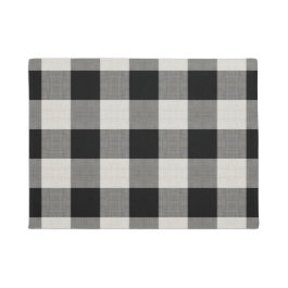 Black Buffalo Check | Modern Farmhouse Doormat