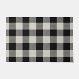 Black Buffalo Check | Modern Farmhouse Doormat