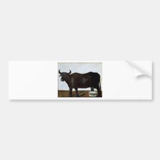 Black buffalo on a white background (part of dipty bumper sticker