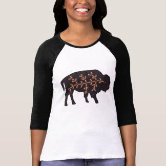 Black Buffalo on Brown T-Shirt