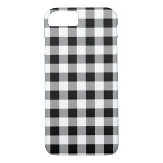 Black Buffalo Plaid White iPhone 7 Case