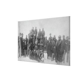 """Black """"Buffalo Soldiers"""" of the 25th Infantry Canvas Print"""
