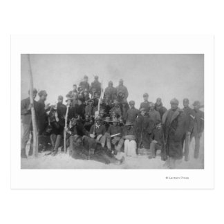 "Black ""Buffalo Soldiers"" of the 25th Infantry Postcard"