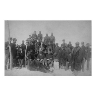 """Black """"Buffalo Soldiers"""" of the 25th Infantry Poster"""